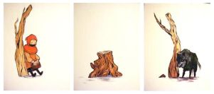riding hood triptych by sc-parade