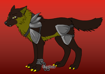 Hunter the Wolf by neneh2000