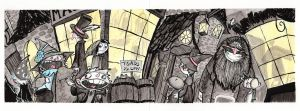 Inktober 2015 Diagon Alley by Natesquatch
