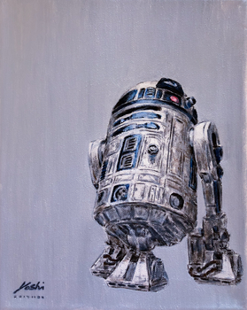 R2D2 Oil Painting by DefMart