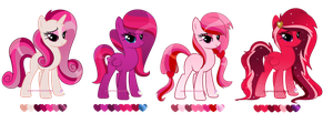 Valentines day theme pony adopts (CLOSED) by SugarMoonPonyArtist