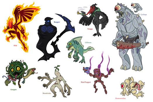 Creature doodles: monster manual by JWNutz