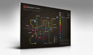 Subway infographic design mock by Lemongraphic