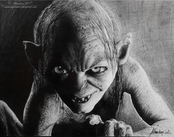 Gollum Portrait by Bansheeek