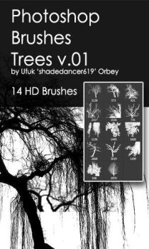 Shades Trees v.01 HD Photoshop Brushes by shadedancer619