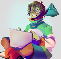 Pidge And Rover by PastelWing