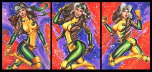 ROGUE PERSONAL SKETCH CARDS by AHochrein2010