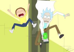 Rick and Morty by IzzyLC