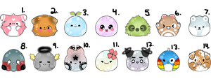 Blob Adopts 10 POINTS EACH (7/14 OPEN) by PecheAmere