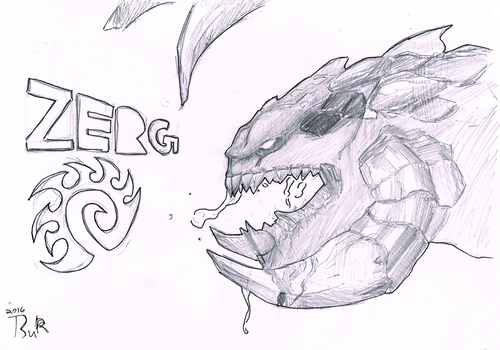 zergling drawing by TsuRIL