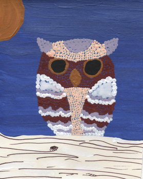Little Lace Owl at Night by darlarosa
