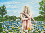 Among The Blue Daisies by AnnaZLove