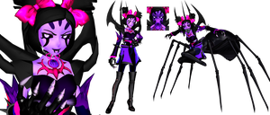 [MMD] Monster Muffet (Undertale) by DrStinger