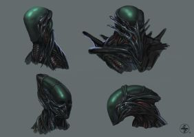 alien helmet design 2 (Giger tribute) by janniklind