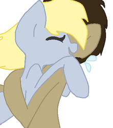 Derpy X the Doctor glomp by candy-coated-llamas
