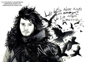 Jon Snow- Dark Wings, Dark Words by SarahNOBODY