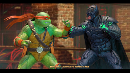 Injustice 2: MichaelAngelo vs Batman by Mike92evil92