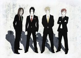 Boys of Naruto by SilvrRainFell
