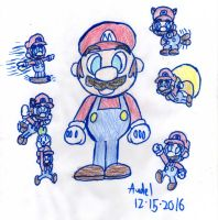 Mario The Pop'n Styled Superstar! Woo-hoo! by MamonStar761