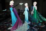 Elsa: Coronation, Snow Queen, and Summer by gh0st-of-Ronin
