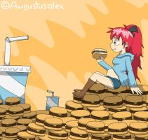 Kyoko On Cheeseburger Hills by Augustusalex