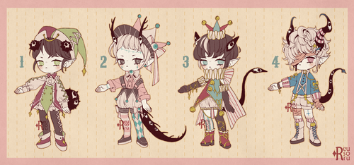 {CLOSED} Adoptable Set Price 09: Living Dolls by Reusoru