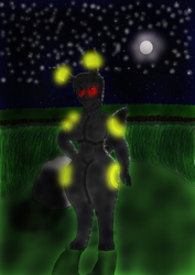 A wild Umbreon Appeared by 100-playerpower