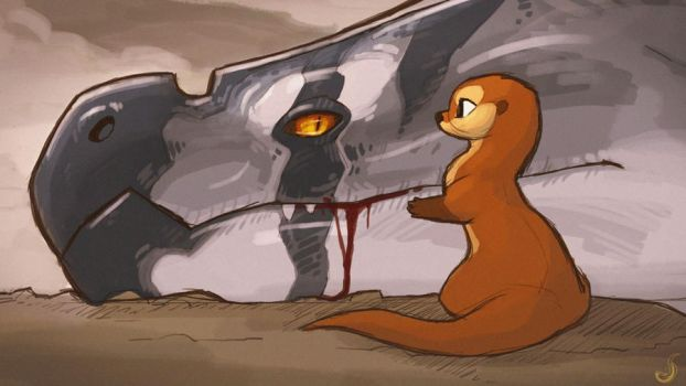 The Wyrm and the Otter by Panimated