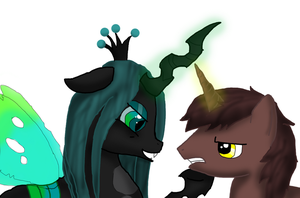 queen Chrysalis Vs Courageous Heart by Grimm-Days