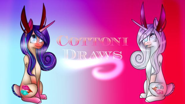 Channel Banner, Subscribe to me on youtube! by CottoniDraws