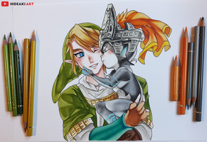 Link and Midna || Legend of Zelda by HideakiArtReal