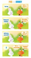 bunny and fox by I-Am-Bleu