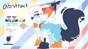 abstract ref sheet by DoodleSnek