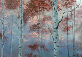 Morning in a Birch Forest by molecularart