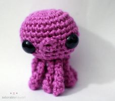 Purple Octopus Amigurumi by adorablykawaii