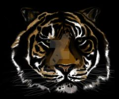 Tiger digital painting by Dumpstaz