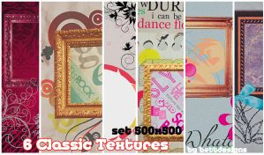 6 Classic Textures by bettdesigns