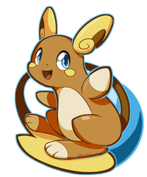 Alola Raichu by SilviShinyStar