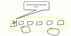 The banana bus by leonxiong