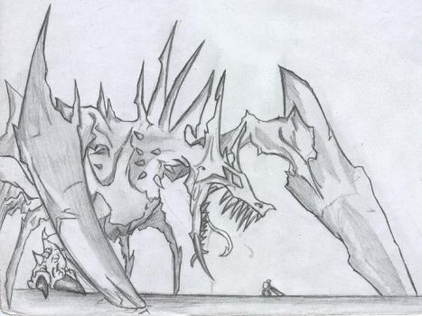 Grave Dragon by bloodmist1