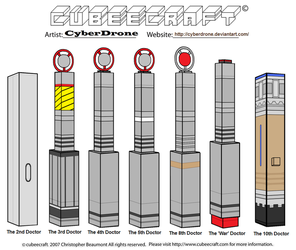 Cubeecraft - The Doctor's Sonic Screwdrivers by CyberDrone