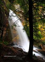 Bad Branch Falls Autumn II by TRBPhotographyLLC