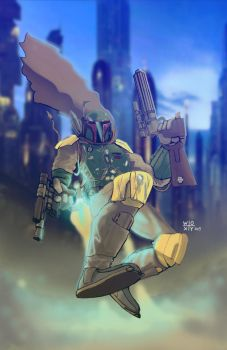 Boba Fett by woxy