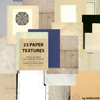 23 Paper Textures by sherleon