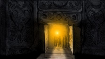 Opening the door(from the Hunters Moon storyboard) by CareldeWinter