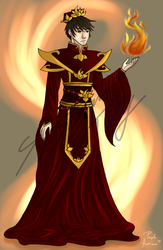 Lord of Fire (colour) by Purple-Hurricane