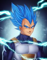Vegeta SSJ Blue - Dragon Ball Super by StefanConstantinArt