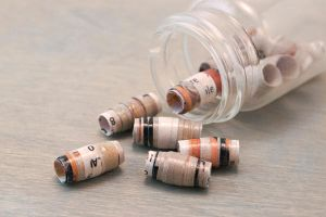 Handemade Recyled Paper Beads in Gray by OneUrbanTribe