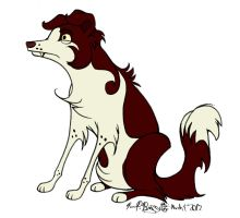Cartoon Collie by Falcolf