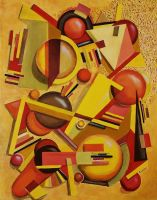 Shapes in Red, Brown, and Yellow by TJKruse